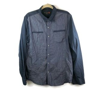 G by Guess Men's Two Tone Denim Shirt Size L